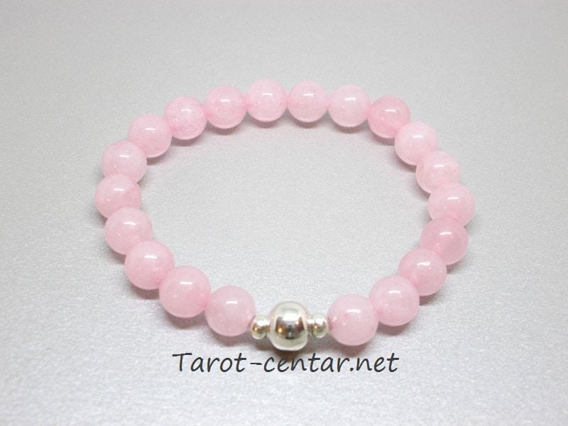 rozenkvarc, ružičasti kvarc, nakit, kristali, poludrago kamenje