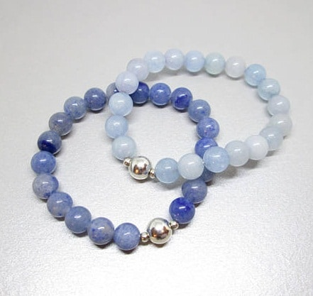gemstone bracelet set, gemstone bracelets, beaded crystal bracelets