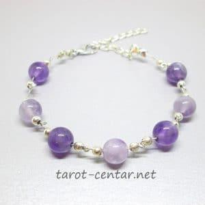 amethyst gratitude bracelet, bead counting bracelet, amethyst gratitude bracelet, gratitude bead bracelet
